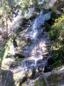A tranquil waterfall on one of our hikes